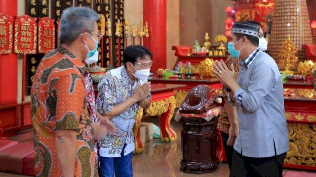 Di Kelenteng Xian Ma, Peter Gozal Puji Pokok Pikiran Deng Ical