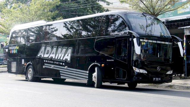 """Keren !!! Begini """"Penampakan"""" Bus Branding Antar ADAMA Ke Lokasi Pengundian Nomor Urut"""