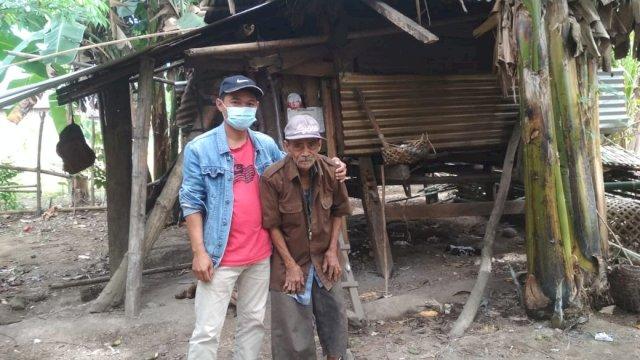 Miris, Pria Berusia 78 Tahun di Pinrang Hidup Sebatang Kara di Gubuk