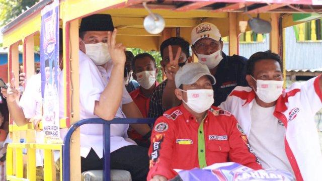 Konvoi Bentor Antar Appi Keliling Sapa Warga Pulau Barrang Lompo