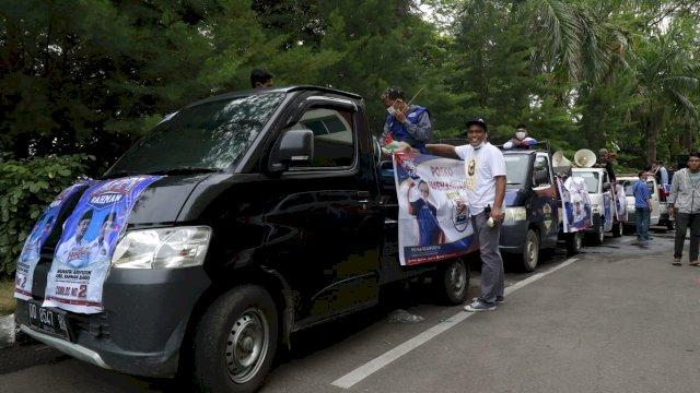 Ratusan Relawan dan Simpatisan Serbu Tamalate Ajak Warga Pilih Appi-Rahman