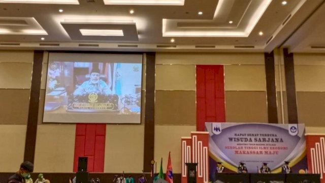 Kepada Wisudawan STIE Makassar Maju, Wagub Sulsel Motivasi Buka Peluang Lapangan Pekerjaan