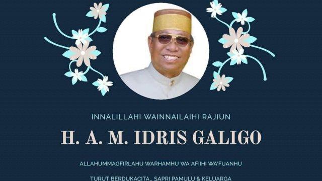 Innalillah Mantan Bupati Kabupaten Bone Dua Periode Andi Idris Galigo Tutup Usia