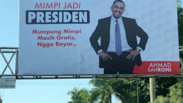 Di Makassar Ahmad Sahroni 'Mimpi Jadi Presiden'