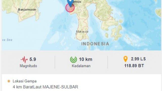 Gempa 5.9 Magnitudo Guncang Mamuju, Rumah Jabatan Ketua DPRD Sulbar Ambruk