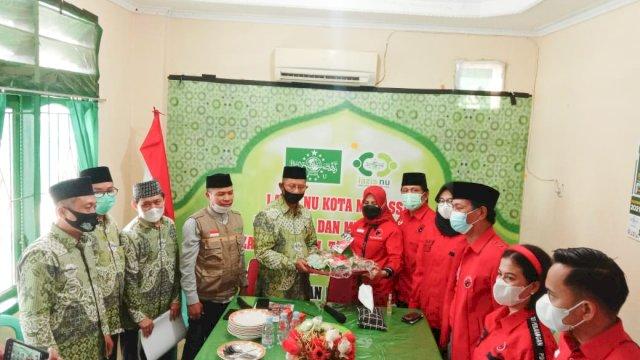 HUT PDIP, Suhada Sappaile Boyong Legislator Temui Pengurus NU Makassar
