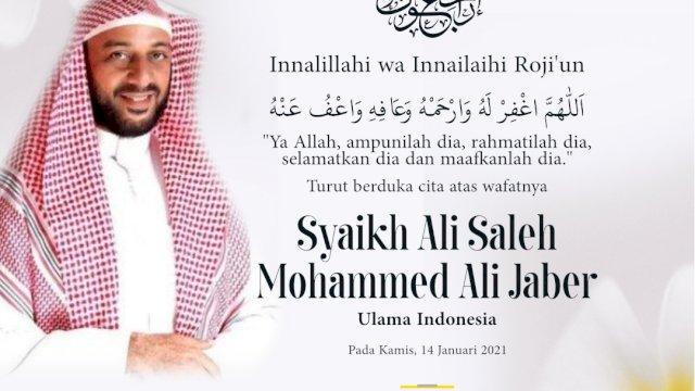 Wagub Sulsel Sampaikan Belasungkawa Meninggalnya Syaikh Ali Jaber
