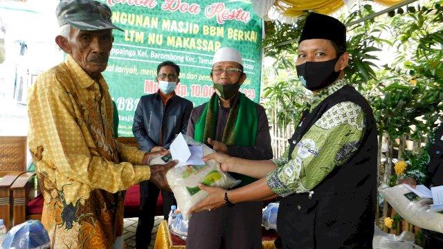 Peletakan Batu Pertama Pembangunan Masjid BBM Berkah oleh AG.KH.Dr. Baharuddin.MA (Ist)