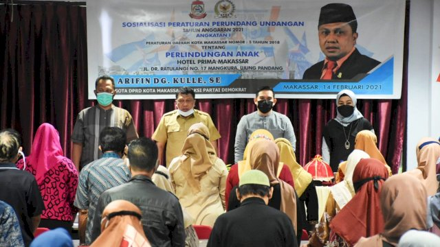 Anggota DPRD Makassar Arifin Dg Kulle Sosialisasi Perda Perlindungan Anak