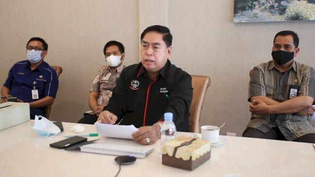 Abd Hayat Ikuti Rapat Bersama Korsupgah KPK Lewat Vidcon