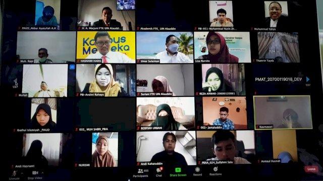 Kuliah Umum FTK UIN Alauddin, Bahas Pendidikan Karakter di Tengah Pandemi