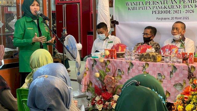 Andi Nurhidayati Intruksikan Kader Perempuan PPP Menangkan Partai Kakbah di Pangkep