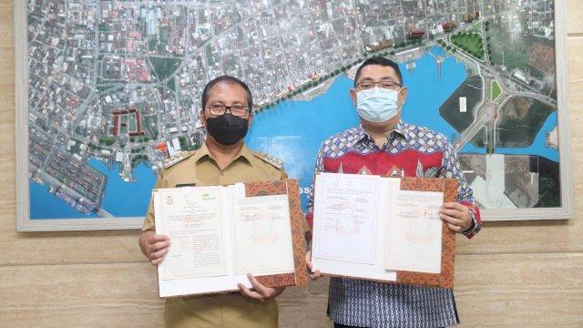 Sukseskan Makassar Recover, Walikota Teken MOU Bersama Pegadaian dan BPJS Ketenagakerjaan
