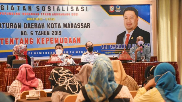 Anggota DPRD Makassar Ari Ashari Ilham sebut Anak Muda Penentu Masa Depan Bangsa