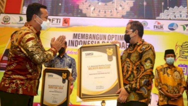 Raih Penghargaan dari SMSI Sulsel, Danny Pomanto: Media Mitra Terbaik Pemerintah