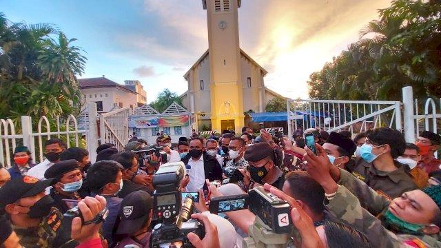 Datangi Gereja Katedral Makassar, Menag: Jangan Takut, Lawan Kelompok Teror!