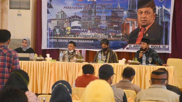 Minim Pengawasan, Arifin Dg Kulle Sosialisasikan Perda KTR