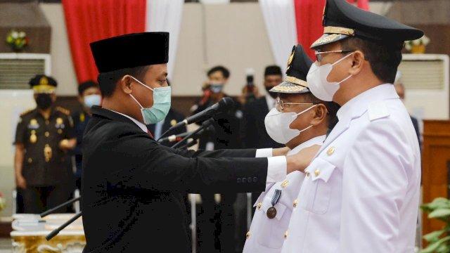 Plt Gubernur Sulsel Resmi Lantik Bupati dan Wakil Bupati Toraja Utara