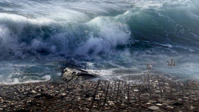 Ilustrasi tsunami. //pixabay/kellepics