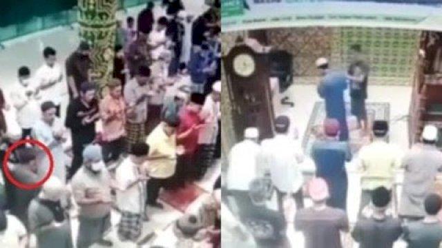 Detik-detik Imam Masjid Dipukul saat Baca Doa Qunut Salat Subuh
