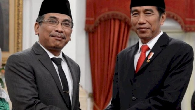 KH Yahya C Staquf bersama Presiden Joko Widodo. Foto: Facebook Yahya C Staquf.