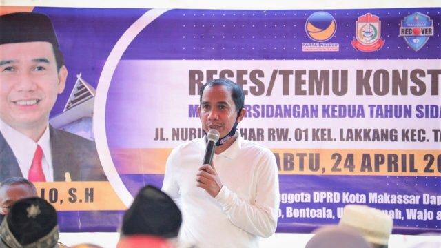 Rudianto Lallo Komitmen Serap Aspirasi dan Dukung Makassar Recover