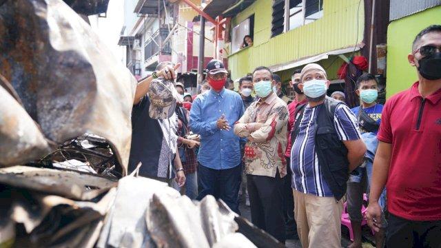 Andi Sudirman Sulaiman Kunjungi Lokasi Korban Kebakaran Jalan Tinumbu