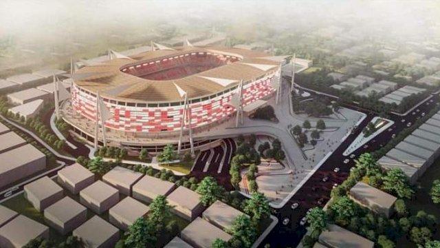 Tampak Desain Stadion Mattoanging saat ini dan akan berubah