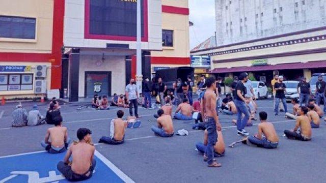 Seratus orang terjaring operasi premanisme di Makassar