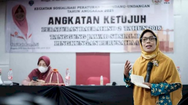 Yeni Rahman Sosialisasi Perda Tanggung Jawab Sosial dan Lingkungan Perusahaan