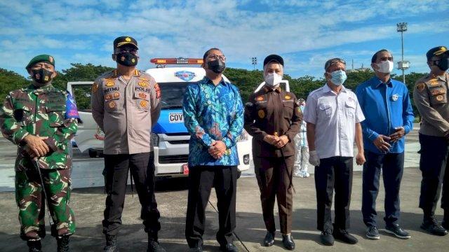 Pemerintah Kota Makassar meluncurkan Stagas Covid Hunter, Jumat 4 Juni 2021.