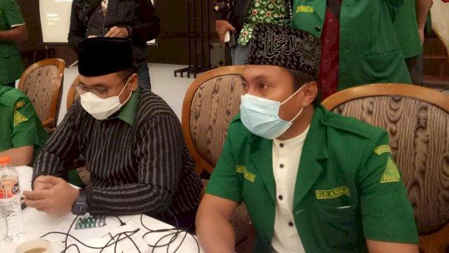 Menteri Agama Yaqut Cholil Qoumas dan Ketua GP Ansor Sulsel Rusdi Idrus
