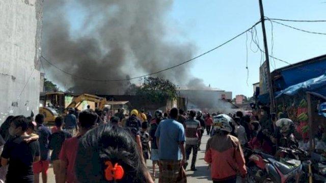Kebakaran Pasar Sentral Pangkep