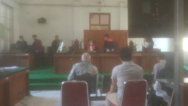 Suasana persidangan terdakwa Agung Sucipto dalam kasus suap Gubernur Sulsel nonaktif Nurdin Abdullah