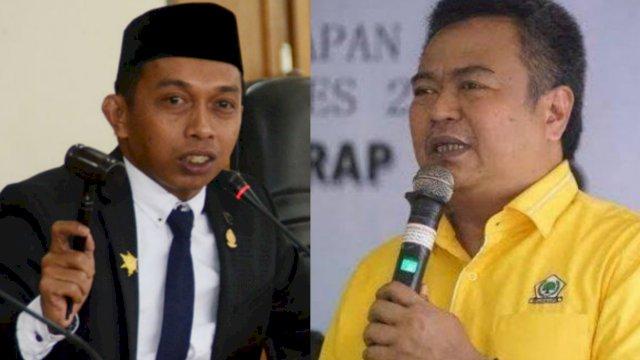 Syaharuddin Alrif dari Fraksi NasDem dan Arfandy Idris dari Fraksi Partai Golkar.