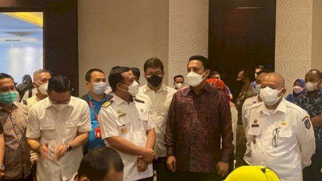 Ketua Kadin Sulsel, Andi Iwan Darmawan Aras dan Plt Gubernur Sulsel, Andi Sudirman Sulaiman
