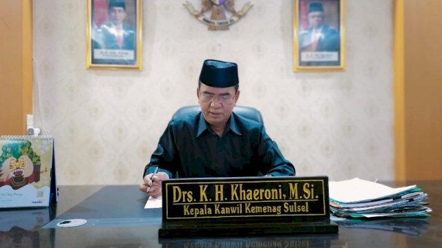 Kepala Kantor Wilayah Kementerian Agama Sulsel, Khaeroni