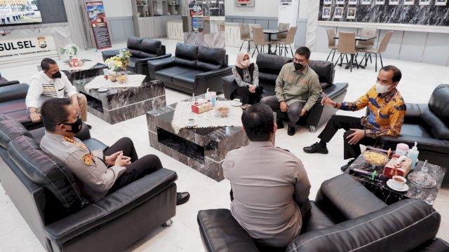 Pimpinan DPRD Makassar silaturahmi ke Kapolda Sulsel, Irjen Pol Merdisyam, Selasa, 6 Juli 2021.