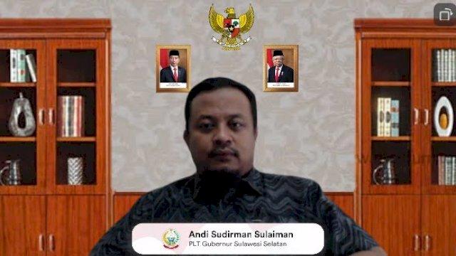 Plt Gubernur Sulsel, Andi Sudirman Sulaiman menghadiri Rapat Koordinasi Penerapan PPKM Level IV di Luar Jawa Bali, yang digelar Kementerian Koordinator Bidang Perekonomian Republik Indonesia secara virtual, Sabtu, 24 Juli 2021.