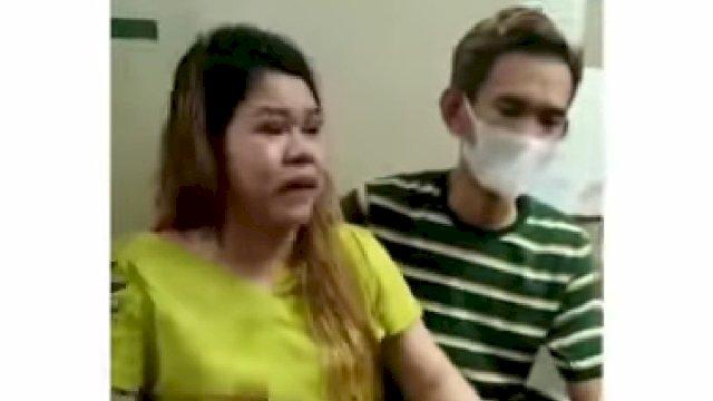 Pasutri, Nur Halim, (26) dan istrinya Amriana, (34) korban pemukulan oknum Satpol PP di Kabupaten Gowa, Mardani Hamdan.