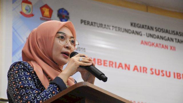 Anggota DPRD Kota Makassar, Budi Hastuti menggelar sosialisasi peraturan daerah (Perda) nomor 3 tahun 2016 tentang pemberian Air Susu Ibu (ASI) di Hotel Pessona, Sabtu, 28 Agustus 2021.