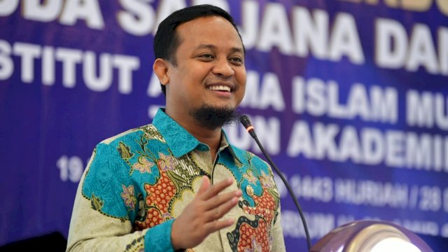 Plt Gubernur Sulsel Beri Orasi Ilmiah di Wisuda Institut Agama Islam Muhammadiyah Sinjai, Sabtu, 28 Agustus 2021.