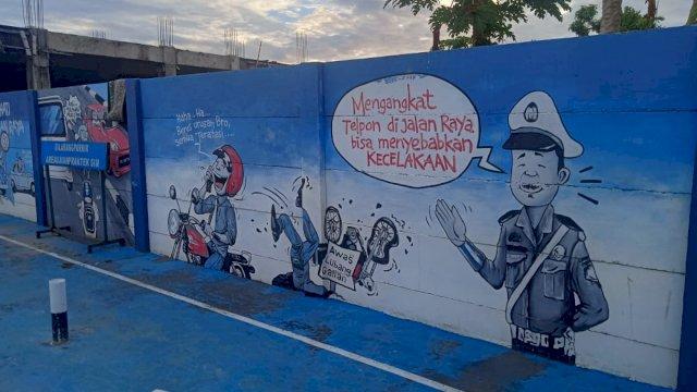 Mural milik Satlantas Polres Gowa