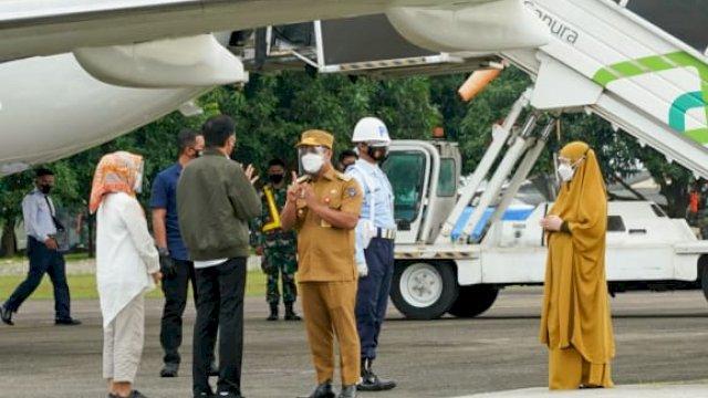 Ke Presiden, Plt Gubernur Sulsel Sampaikan Rencana Pembangunan Stadion Mattoanging