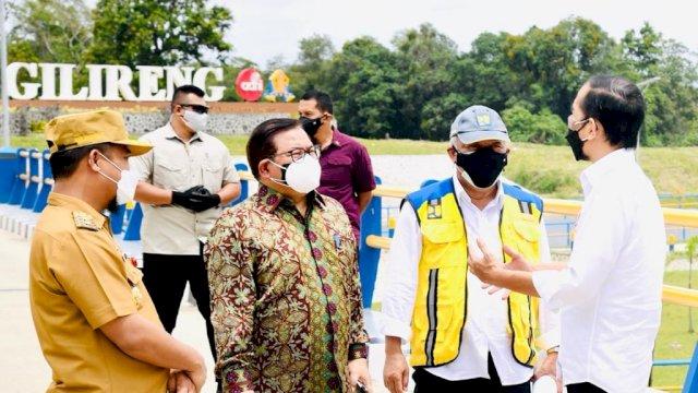 Jokowi Resmikan Bendungan Passeloreng dan Bendung Gilireng, Sudirman: Terima Kasih Pak
