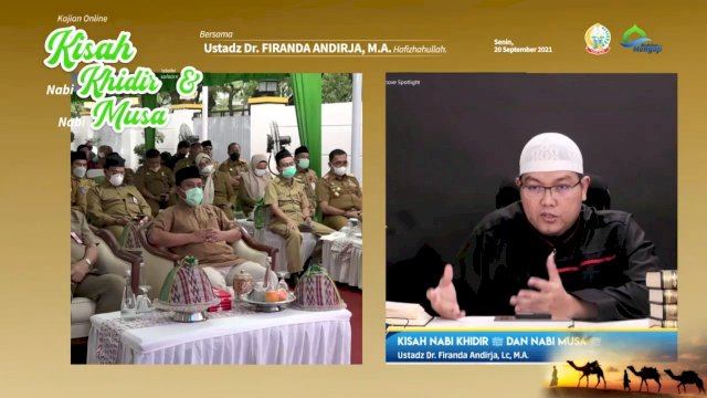 Plt Gubernur Sulsel Minta Nasehat dari Ustadz Firanda Andirja