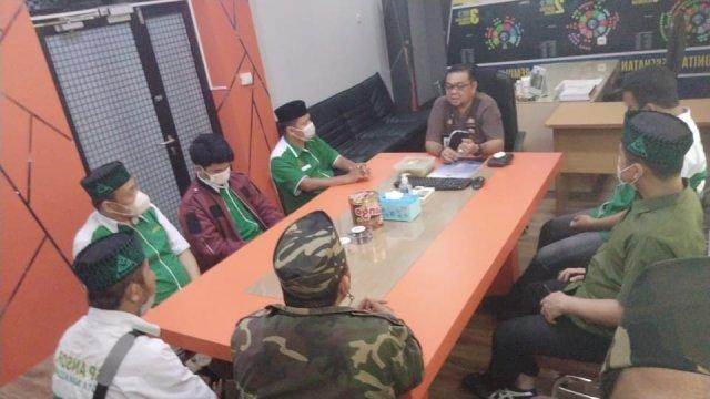 PAC GP Ansor Rappocini silaturahim dengan Camat Rappocini Syahruddin, Jumat, 10 September 2021.