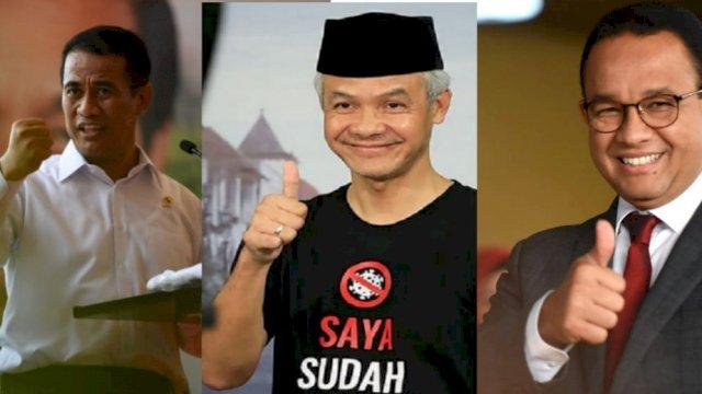 Survei Index Indonesia: Dipasangkan dengan Andi Amran, Suara Anies dan Ganjar Naik