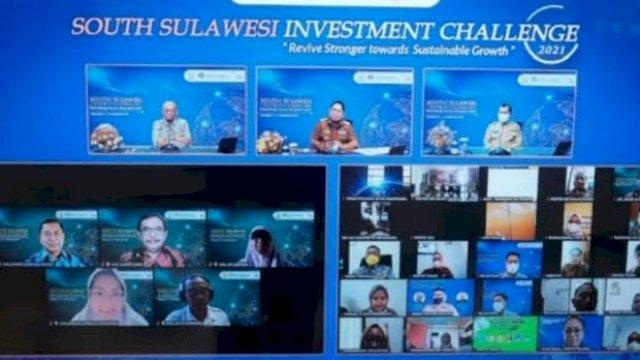 South Sulawesi Investment Challenge (SSIC) 2021 yang dilaksanakan Pemprov Sulsel berkerja sama dengan Bank Indonesia, berlangsung secara virtual, Selasa-Rabu, 13-14 September 2021.