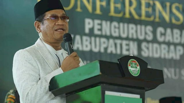 Ketua Tanfidziyah Pengurus Wilayah Nahdlatul (PWNU) Sulawesi Selatan Dr KH Hamzah Harun Alrasyid